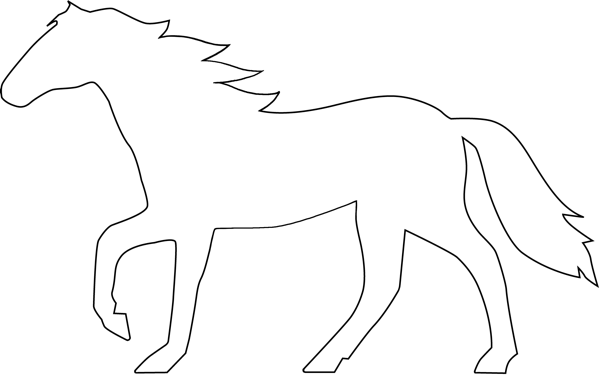 Horse Outline Design